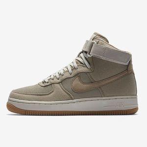 Nike Air Force 1 hi ut khaki women's shoes new